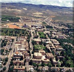 fantastic aerial view photographed by dirigible, the ONLY way to see all of Laramie's greatness! Wyoming Cowboys, Wyoming State, The Places Youll Go, Places Ive Been, Places To Go, States In America, 50 States, Beautiful Life, Beautiful Places
