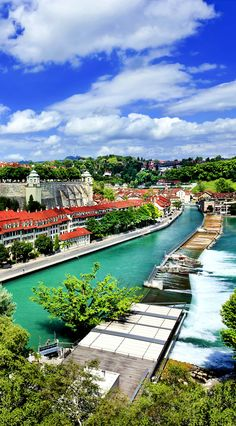 Panoramic view on the magnificent old town of Bern, capital of Switzerland.