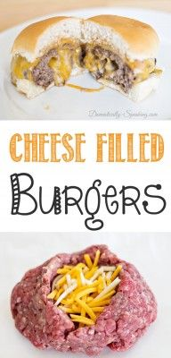 Oh My!!! These look amazing. Cheese stuffed cheeseburgers - hello cheese lovers! I can't wait to try these next time I BBQ.