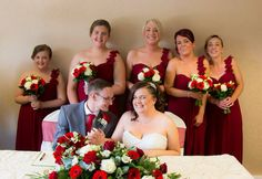 Red Rose and Gerbera Hand tied Bouquet
