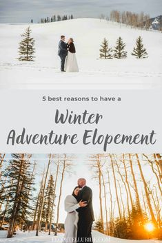 Get our top 5 reasons to have a micro wedding or an elopement in the snow! The Rocky Mountains in Colorado are some of the most beautiful locations to have a destination wedding, whether you have many guests or just the two of you. The Elope Telluride team can provide photography packages, ideas and planning tips! #microwedding #winterwedding #winterelopement #adventureelopement #telluride #coloradowedding #coloradoelopement