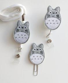 Totoro Felt Paperclip | Badge Reel | ID Badge | Felt Badge | Badge Holder | Lanyard | Planner Clip | Planner Accessories | Felt Totoro