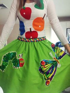 The Very Hungry Caterpillar ideas: Teacher costume: For The Very Hungry Caterpillar. So cute!
