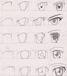 How to draw anime eyes step by step for beginners easy anime eyes picture manga tutorial Easy Anime Eyes, How To Draw Anime Eyes, Manga Eyes, Anime Eyes Drawing, Draw Eyes, Manga Mouth, Simple Anime, Anime Drawings Sketches, Anime Sketch