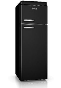 Swan SR11010BN Retro Top Mount Fridge Freezer in The range of beautifully designed Swan Vintage Fridge-Freezers combine modern A  energy efficiency with a classic retro look that will make this fridge a real design statement in your kitchen. The des http://www.MightGet.com/february-2017-2/swan-sr11010bn-retro-top-mount-fridge-freezer-in.asp