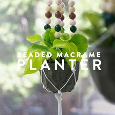To kick off our DIY Roundup we have a project from Alison Allen, a Minneapolis based blogger, photographer and DIY fanatic. Alison shares with us a recent project she completed: A DIY Beaded Macrame Planter. Perfect for any sunny nook or corner of your home.