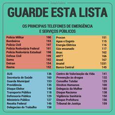 ALEXANDRE GUERREIRO: Guarde esta lista de telefones de emergência e de ...