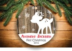 ■ For more Christmas Ornaments Personalized please visit our shop:  https://www.etsy.com/shop/DayStarExpressions  ■ DESCRIPTION & DETAILS  Every personalized Christmas Ornament we sell is made using a professional high heat process resulting in a vibrant permanent design that will never wear out. This is not vinyl stickers and will never peel off! The ornaments are aprx. 3 in diameter and 1/8 thick and are made of porcelain.  We offer two print options for each ornament. You can opt to have…