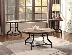Surprise Deal Catarina Solid Wooden 3 Piece Coffee Table Set By Gracie Oaks Wine Barrel Coffee Table, 3 Piece Coffee Table Set, Garden Coffee Table, Glass Top Coffee Table, Lift Top Coffee Table, Cool Coffee Tables, Round Coffee Table, Coffee Table With Storage, Coffee Set