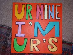UR MINE I'M UR'S 2014 By Royston du Maurier-Lebek Commission Painting