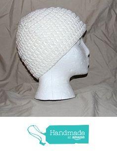 Hand Crochet head hugger cap skull cap chemo cap bad hair day cap - fits most teens & adults - Soft WHITE - 100% acrylic yarn - smoke free - pet free - free ship to USA from PMSCRAFTS https://www.amazon.com/dp/B01MRHDIAW/ref=hnd_sw_r_pi_dp_CtEiybXVMG4RR #handmadeatamazon