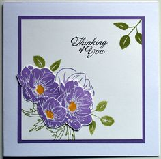 Another card created at a Stampin Up evening gathering