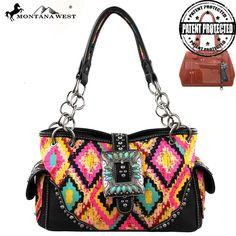Montana West MW132G-8085 Aztec Concealed Carry Handbag