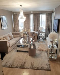 78 very cozy and practical decoration ideas for small living room page 35 Glam Living Room, Living Room Goals, Living Room Decor Cozy, Living Room Inspiration, Home Decor Inspiration, Decor Ideas, Room Ideas, Home Design Decor, House Design