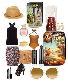 """""""Eternally Cuba..."""" by mamanae ❤ liked on Polyvore featuring Asha by ADM, Miss Selfridge, Argento Vivo, Valentino, A.L.C., Steve Madden, San Diego Hat Co., Lenny, Linda Farrow and Tory Burch"""