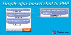 Simple AJAX based chat in PHP