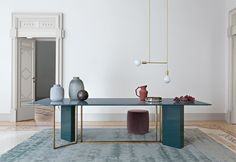 PLINTO table - Meridiani - design and art direction by ANDREA PARISIO
