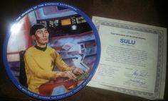 Star Trek Collector Plate - Sulu  on Etsy