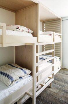 Children's Bedroom With Built-In Modern Bunk Beds