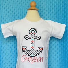 Personalized Double Anchor Applique Shirt or by PixieStitchLLC