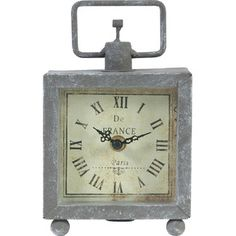 Parisian Table Clock
