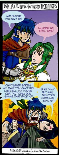 Haha, ike's in love with soren! By elf-chuchu @ elf-chuchu.deviantart.com