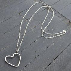 Silver Heart Pendant. Gemwaith WYN Jewellery
