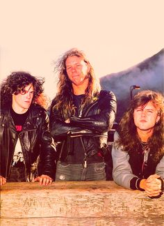 Jason Newsted, James Hetfield  and  Lars Ulrich
