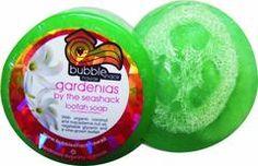 Bubble Shack Hawaii Gardenias By The Seashack Loofah Lather Glycerin Soap Gift Set - Lilly's Bathcarry