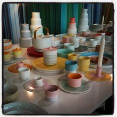 Scholten & Baijings showed a tableware set based on the archives of hand-painted porcelain company 1616 Arita Japan