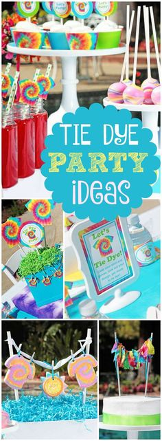 What a fabulous tie dye summer party! See more party ideas at CatchMyParty.com!