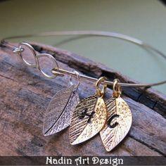Silberarmreif mit Personalisierten Anhänger von NadinArtDesign auf DaWanda.com
