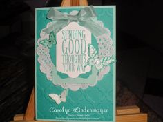Carolyn's Card Creations: Sending Good Thoughts