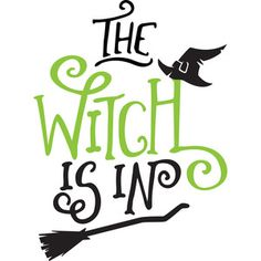 Silhouette Design Store: The Witch Is In Halloween Quotes, Halloween Signs, Easy Halloween, Halloween Snacks, Halloween Crafts, Halloween Vinyl, Halloween Witches, Halloween Pictures, Fall Crafts