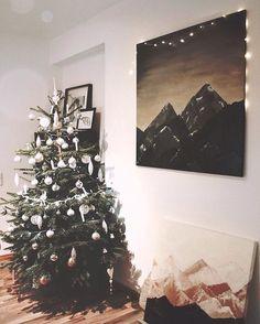WEBSTA @ kristina.van.deer - #christmas #canvas #mountains #acrylicpainting