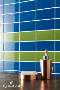 Original Style, Artworks Range, Baroque Blue Half Field Tiles Color Of The Year 2017, Tile Manufacturers, London Underground, Pantone Color, Baroque, Colonial, Greenery, Glaze, Layouts