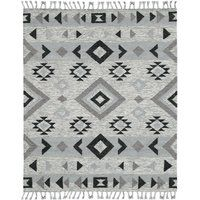 Presented in soft shades of silver and gray, the Amer Rugs Artifacts Flat Weave Indoor Area Rug is easy to blend with a variety of home color palettes. This area rug features a geometric pattern, and is finished with soft tassel details. Modern Area Rugs, Grey Rugs, Wool Area Rugs, Wool Rugs, Woven Rug, Pottery Barn, Rug Size, Weave, Flat