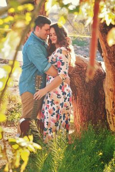 Couple photography. Floral maxi-dress. Semi-formal pictures. Love. Guitar. <cambriairene.blogspot.com>