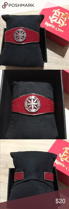 Rustic Cuff Red Stingray Cuff from COTM Not sold in stores or online. Red Stingray. Great condition. Worn twice. Comes with pillow and box. Rustic Cuff Jewelry Bracelets