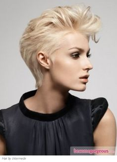 Short Slicked-Back Hair Style