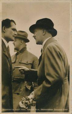 madchenfurwolf:   Hitler, Hess and Esser at an... - MädchenFürWolf