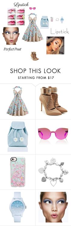 """Spring lips"" by dance4ever1222 ❤ liked on Polyvore featuring beauty, Puma, Sugarbaby, RetroSuperFuture, Casetify, ChloBo, Lacoste and Clinique"