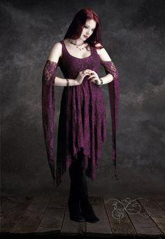 Eolande Lace Gothic Fairy Wedding Dress