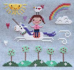 free printable unicorn cross stitch patterns - Buscar con Google