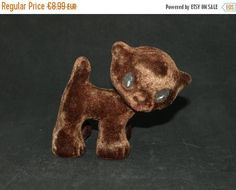 SALE -20% Cute soft foamy vintage cat from Soviet era - made in USSR (Estonia) - Soviet toy - Russian toy cat - soft plushy rubber toy by BuratinoToys on Etsy