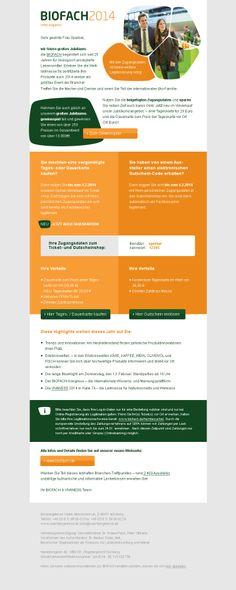 Newsletter-Design BIOFACH 2014  #Newsletterdesign #Email #Emailmarketing