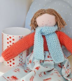 Crochet scarf to match handmade clothes.