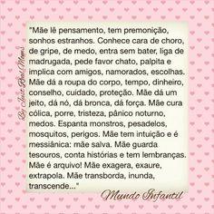 Mãe! ♥ ♥ ♥ ♥