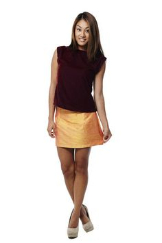 Shantung Silk Mini Skirt - RHOs