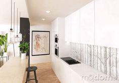 Kuchynskú zástenu tvorí transparentné